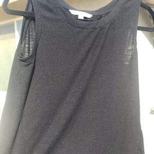 Simple black sleeveless top